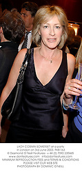 LADY COSIMA SOMERSET at a party in London on 3rd June 2003.PKB 163