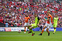 Blackpool's Brad Potts scores the opening goal <br /> <br /> Photographer Craig Mercer/CameraSport<br /> <br /> The EFL Sky Bet League Two Play-Off Final - Blackpool v Exeter City - Sunday May 28th 2017 - Wembley Stadium - London<br /> <br /> World Copyright © 2017 CameraSport. All rights reserved. 43 Linden Ave. Countesthorpe. Leicester. England. LE8 5PG - Tel: +44 (0) 116 277 4147 - admin@camerasport.com - www.camerasport.com