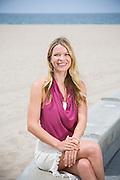 Amber Lyons, shot on Santa Monica Beach.