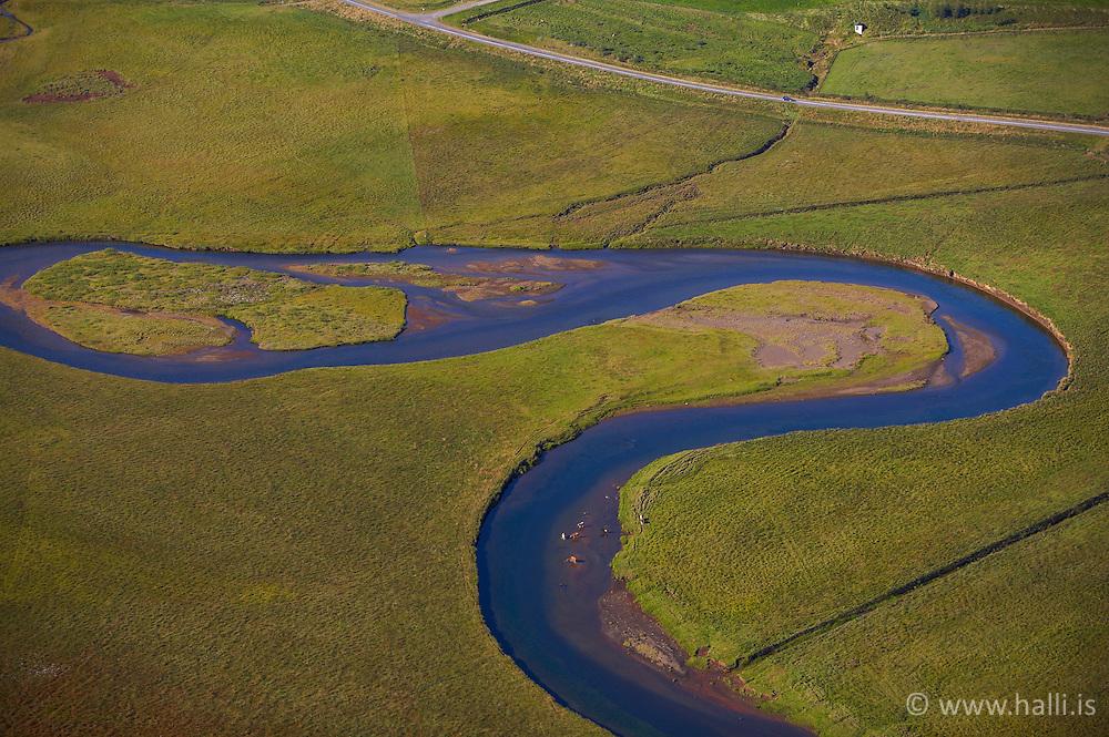 Loftmynd af Seljadalsá / Aerial photograph of Seljadalsá