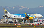 EC-MLE Vueling Airbus A320-232(WL) with Disneyland Paris - 25 Years Livery at Malpensa (MXP / LIMC), Milan, Italy