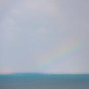 Rainbow over the sea, post-rain. Isle of man.