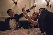 ZAIN GETTY; ; BEATA HEUMAN,, Nicky Haslam hosts dinner at  Gigi's for Leslie Caron. 22 Woodstock St. London. W1C 2AR. 25 March 2015