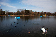 The Serpentine in Hyde Park, London.