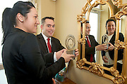 31/01/2014 REPRO free.<br /> <br /> The EFQM(European Business Excellence based Awards in Ireland) 5 Star Award went to among others Crowne Plaza Blanchardstown, represented by Magda Rybka and Garrett O'Neill from the Hotel in a prestigious recognition scheme awards ceremony  at the Galway Bay Hotel . Established by the private sector, the Centre for Competitiveness (CforC) is an independent, not-for-profit membership organisation operating on the Island of Ireland with offices in Belfast and Dublin. The Centre is the national partner for the European Foundation for Quality Management, Brussels (EFQM) in Ireland and the certification partner for the UK and Ireland (ADS) aerospace, defence and security supply base. It is an active member of the Global Federation of Competitive Councils, Washington USA. The Centre is dedicated to improving the quality and competitiveness of individual organisations in the private, public and voluntary sectors and to build best in class performance through International Leadership and Innovation, Productivity Improvement, and Quality Excellence in all sectors.Photo:Andrew Downes