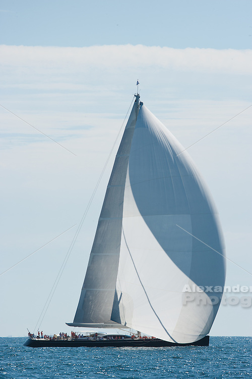Sailing aboard yacht 'Tenacious' in the Newport Bucket regatta, Newport, Rhode Island 2012