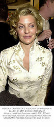 WENDY, COUNTESS OF CALEDON at an exhibition in London on 25th October 2001.OTL 69