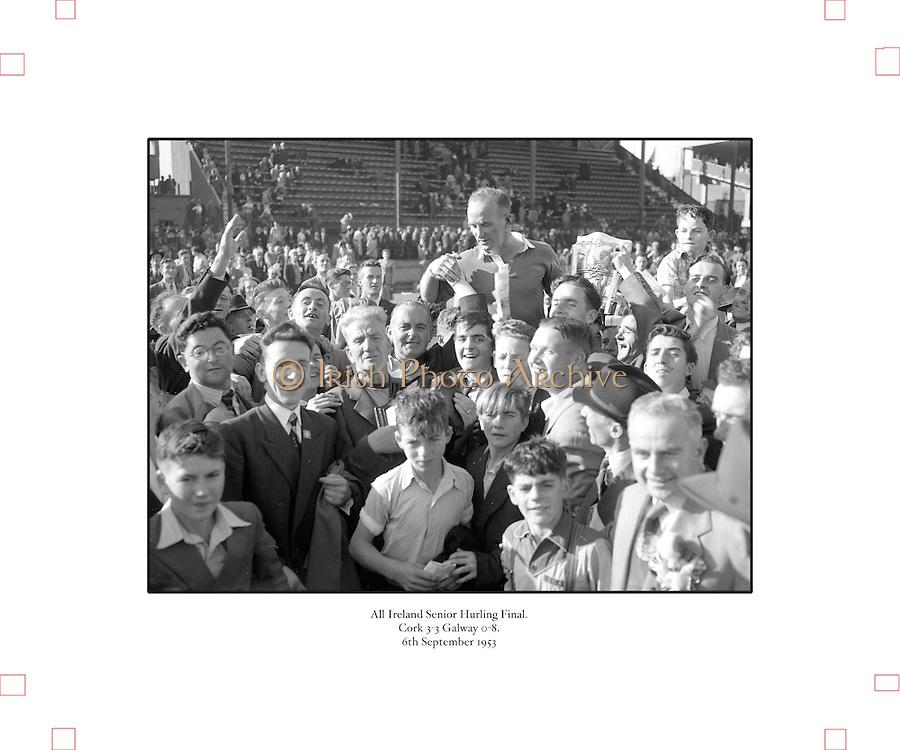 All-Ireland Senior Hurling Final, Cork v Galway, at Croke Park..Cork 3-3   Galway 0-8.Cork Team.06.09.1953