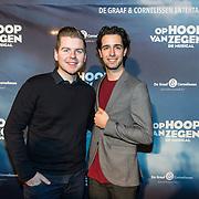NLD/Zaandam/20190128- première musical Op Hoop van Zegen, Giovanni Sturkenboom en Merijn Oerlemans