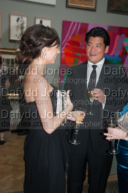 KATHERINE SCHAEFER;  RICHARD CHANG,, Royal Academy of Arts Annual dinner. Piccadilly. London. 29 May 2012.