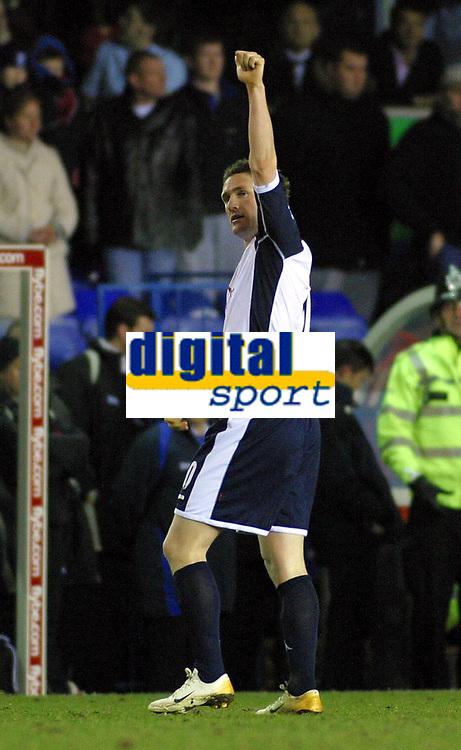 Photo: Dave Linney.<br />Birmingham City v Tottenham Hotspur. The Barclays Premiership. 18/03/2006.Spurs Robbie Keane celebrates after making it 2-0