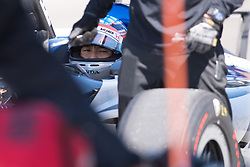 April 30, 2018 - Indianapolis, IN, U.S. - INDIANAPOLIS, IN - APRIL 30: Takuma Sato (30) in the pits during an Open Test on April 30, 2018, at the Indianapolis Motor Speedway in Indianapolis, IN. (Photo by James Black/Icon Sportswire) (Credit Image: © James Black/Icon SMI via ZUMA Press)
