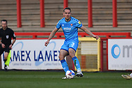 Cheltenham Town Defender Chris Hussey(3) during the EFL Sky Bet League 2 match between Stevenage and Cheltenham Town at the Lamex Stadium, Stevenage, England on 20 April 2021.