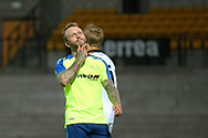 Derby's Johnny Russell shows his frustration as he misses a good chance to score during the Pre-Season Friendly match between Port Vale and Derby County at Vale Park, Burslem, England on 18 July 2017. Photo by John Potts.