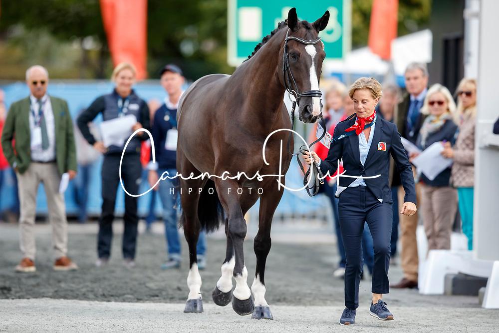 Lenherr Charlotte, SUI, Darko of de Niro ZS CH<br /> Dressage Vetcheck<br /> European Championship Goteborg 2017<br /> © Hippo Foto - Stefan Lafrenz