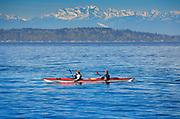 Kayakers in Seattle's Elliott Bay