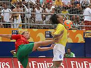 Footbal-FIFA Beach Soccer World Cup 2006 -  Semi Final- BRA xPOR -Bruno and Marinho  -Rio de Janeiro- Brazil - 11/11/2006.<br />Mandatory Credit: FIFA/Ricardo Ayres