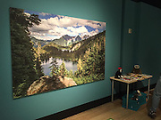 """They used my photograph of Watson Lakes at Noisy-Diobsud Wilderness in the """"Wild Nearby"""" exhibit at the Burke Museum in Seattle."""