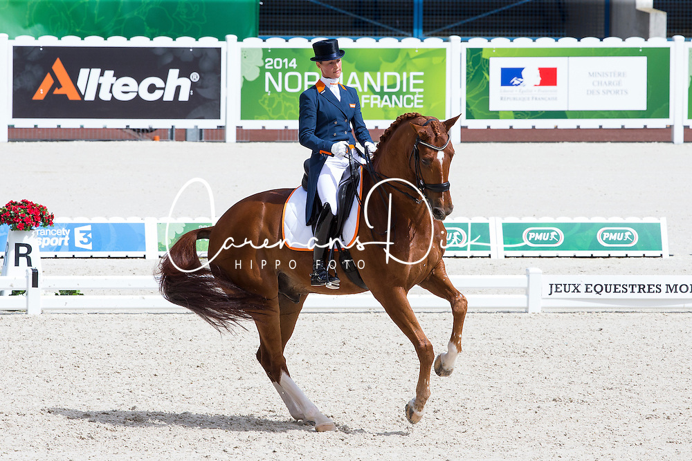 Adelinde Cornelissen, (NED),  Jerich Parzival - Grand Prix Team Competition Dressage - Alltech FEI World Equestrian Games™ 2014 - Normandy, France.<br /> © Hippo Foto Team - Leanjo de Koster<br /> 25/06/14