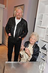 RICHARD BRANSON and his mother EVE BRANSON at a party to celebrate the publication of Mum's The Word by Eve Branson held at Grace, West Halkin Street, London on 11th March 2013.