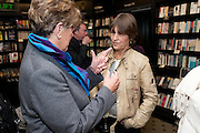 PRUE LEITH; CAROLINE WALDEGRAVE, Relish: My Life on a Plate by Prue Leith. Hatchards. Piccadilly, London. 14 March 2012.