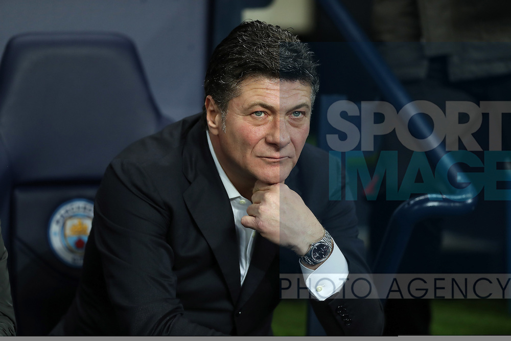 Manager of Watford Walter Mazzarri during the English Premier League match at The Etihad Stadium, Manchester. Picture date: December 12th, 2016. Photo credit should read: Lynne Cameron/Sportimage