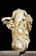 Statue from the Nereid Monument. Lykian tomb, found in Xanthus, Turkey. Built around 390-380 BC