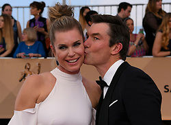 January 29, 2017 - Los Angeles, California, United States - Rebecca Romijn, left, and Jerry O'Connell on the red carpet at 23rd Annual Screen Actors Guild Awards  at The Shrine Expo Hall in Los Angeles on Sunday, January 29, 2017. (Credit Image: © John Mccoy/Los Angeles Daily News via ZUMA Wire)