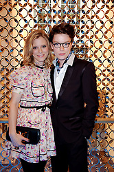 EMELIA FOX and her brother FREDDIE FOX at a party to celebrate the opening of the Louis Vuitton Bond Street Maison, New Bond Street, London on 25th May 2010.