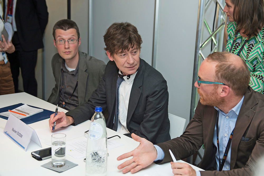 03 June 2015 - Belgium - Brussels - European Development Days - EDD - Jobs - Research for change - New knowledge for poverty eradication - Xavier Oudin , Scientific coordinator Nopoor project , IRD-DIAL © European Union
