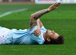 March 31, 2018 - Rome, Lazio, Italy - Felipe Anderson during the Italian Serie A football match between S.S. Lazio and Benevento at the Olympic Stadium in Rome, on march 31, 2018. (Credit Image: © Silvia Lore/NurPhoto via ZUMA Press)