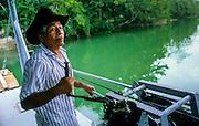San Ignacio: a small manually operated ferry on Mopan River