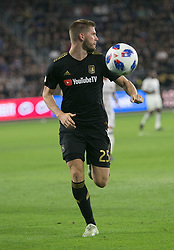 November 1, 2018 - Los Angeles, California, U.S - Walker Zimmerman #25 of the LAFC looking to pass the ball during their MLS playoff game with the Real Salt Lake on Thursday November 1, 2018 at Banc of California Stadium in Los Angeles, California. LAFC vs Real Salt Lake. (Credit Image: © Prensa Internacional via ZUMA Wire)
