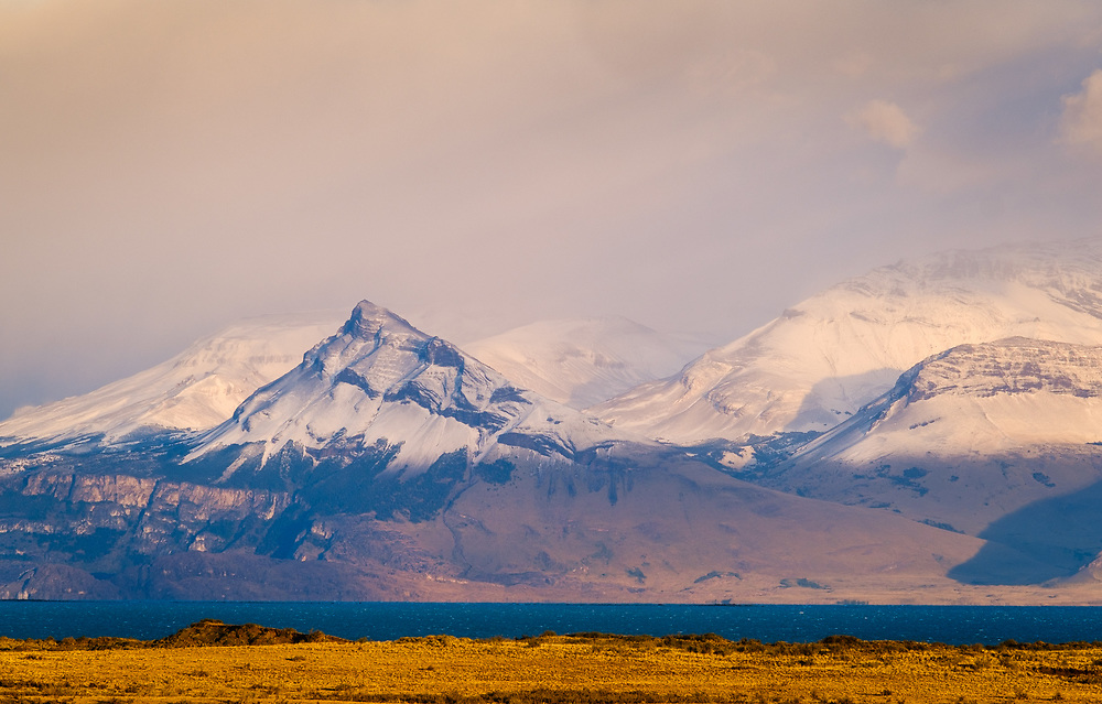 NATIONAL PARK LOS GLACIARES, ARGENTINA - CIRCA FEBRUARY 2019: Landscape around National Park los Glaciares in Argentina.