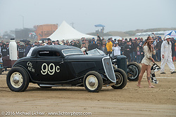 Mike Hammel in his 1933 Ford 3-window up against David Love in his 1933 Ford Roadster at TROG West - The Race of Gentlemen. Pismo Beach, CA, USA. Saturday October 15, 2016. Photography ©2016 Michael Lichter.