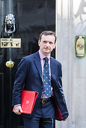 Downing Street, London, April 12th 2016. Welsh Secretary Alun Cairns leaves the weekly cabinet meeting. <br /> ©Paul Davey<br /> FOR LICENCING CONTACT: Paul Davey +44 (0) 7966 016 296 paul@pauldaveycreative.co.uk