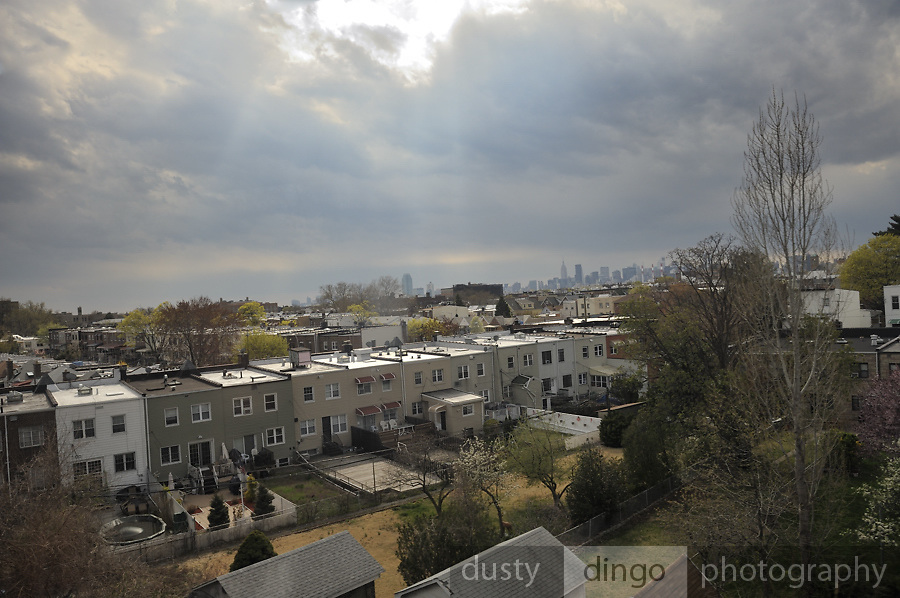 Astoria, with Manhattan, New York skyline in far distance