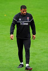 Reuben Reid of Cheltenham Town prior to kick-off- Mandatory by-line: Nizaam Jones/JMP - 24/10/2020 - FOOTBALL - Jonny-Rocks Stadium - Cheltenham, England - Cheltenham Town v Mansfield Town - Sky Bet League Two