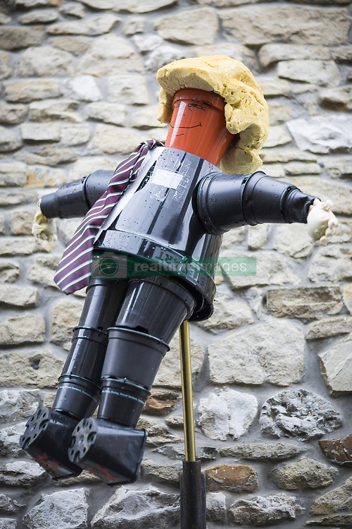 August 7, 2017 - Settle, Yorkshire, UK - President Donald Trump has made an appearance at this years Settle Flower Pot festival in Settle in the Yorkshire Dales. The festival was started in 2004 & takes place throughout August, it see's local residents make a variety of creation's all made with flower pot's. of  (Credit Image: © Andrew Mccaren/London News Pictures via ZUMA Wire)
