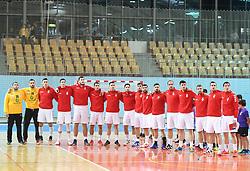 Tean Serbia before friendly handball match between Slovenia and Srbija, on October 27th, 2019 in Športna dvorana Lukna, Maribor, Slovenia. Photo by Milos Vujinovic / Sportida