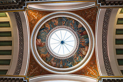 Detail of decoration on ceiling cupola of the Signet Library on Parliament Square , Edinburgh Old Town, Scotland, UK.