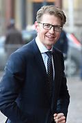 Zijne Majesteit Koning Willem-Alexander en Hare Majesteit Koningin Máxima houden de traditionele Nieuwjaarsontvangst voor Nederlandse genodigden in het Koninklijk Paleis Amsterdam met de aankomst van politici<br /> <br /> op de foto:    Sander Dekker