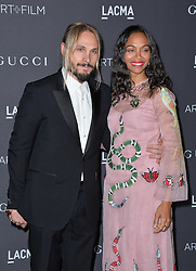 Zoe Saldana and Marco Perego attend the 2016 LACMA Art + Film Gala honoring Robert Irwin and Kathryn Bigelow presented by Gucci at LACMA on October 29, 2016 in Los Angeles, California. Photo by Lionel Hahn/AbacaUsa.com