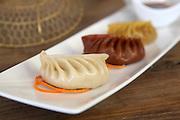 Steamed Gyoza (Jiaozi) A Chinese dumpling
