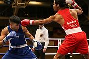 Boxen: Elite, Deutsche Meisterschaften, Achtelfinale, Lübeck, 06.12.2017<br /> Carlos Angeles (Schleswig Holstein) - Nawid Asefi (Hamburg)<br /> © Torsten Helmke