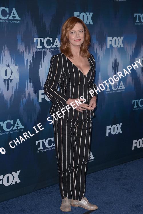 SUSAN SARANDON at the Fox Winter TCA 2017 All-Star Party at the Langham Hotel in Pasadena, California