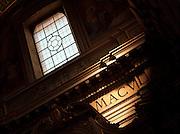 Detail inside Sant' Andrea Della Valle, Rome, Italy.