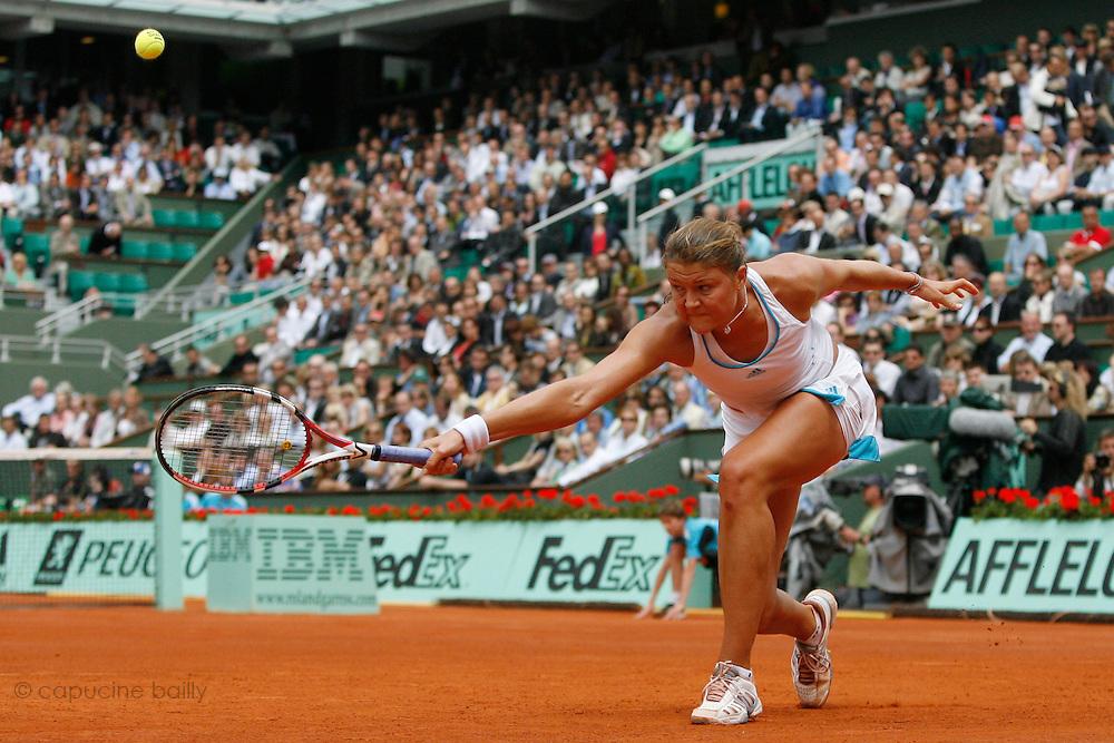 Roland Garros. Paris, France. June 4th 2008..Dinara SAFINA against Elena DEMENTIEVA..1/4 Finals...