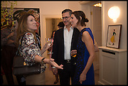 CLARE WAIGHT KELLER; VALERIA NAPOLEONE, Frieze dinner  hosted at by Valeria Napoleone for  Marvin Gaye Chetwynd, Anne Collier and Studio Voltaire 20th anniversary autumn programme. Kensington. London. 14 October 2014.