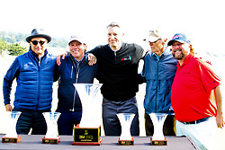 """Feb 6, 2019 Pebble Beach, Ca. USA TV, Film and singing stars that included (at awards presentation with 3M Chairman) , CLINT EASTWOOD, BILL MURRAY, COLT FORD,  and CLAY WALKER, ANDY GARCIA, all played in the """"3M Celebrity Challenge"""" to try for part of the 100K purse to go to their favorite charity and win the Estwood-Murray cup, for which team Clint Eastwwod's group won.. The event took place during practice day of the PGA AT&T National Pro-Am golf on the Pebble Beach Golf Links. Photo by Dane Andrew c. 2019 contact: 408 744-9017  TenPressMedia@gmail.com"""